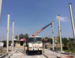Dịch vụ cho thuê xe tải gắn cẩu tự hành tại Hải Phòng